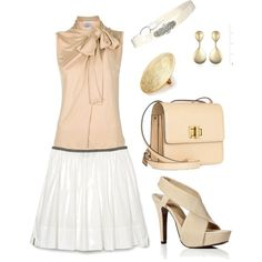 Beige and White, created by lana-neuman on Polyvore