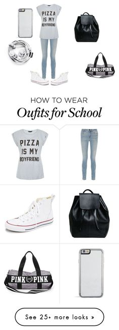 """School girl"" by gustavia5347 on Polyvore featuring Converse, Alexander Wang, women's clothing, women, female, woman, misses and juniors"