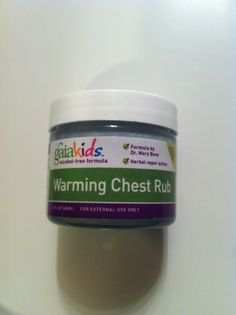 Best stuff ever for when kids are sick! Uses only essential oils, coconut oil, cocoa butter and Shea butter. It can also be added to the bath tub for a decongestant and relaxing bath- it even creates some bubbles!