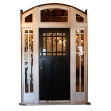 """Antique Arts & Crafts Entryway, 36"""" Door with Sidelights & Transom"""