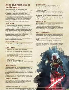 Post with 5107 views. Way of the Soulknife - a monk-based psychic ninja Dungeons And Dragons Classes, Dungeons And Dragons Characters, Dungeons And Dragons Homebrew, Dnd Characters, Fantasy Characters, Character Creation, Fantasy Character Design, Character Art, Dnd Races