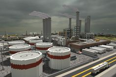 [Minecraft] Oil Refinery by Yazur.deviantart.com on @deviantART