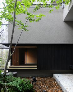 宇都宮の家8 Japanese Modern, Japanese House, House In The Woods, My House, Japanese Garden Backyard, Townhouse Exterior, Boundary Walls, Forest House, Building Facade