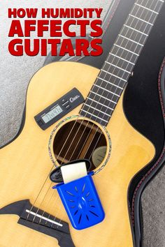 """Too much or too little humidity can be bad news for a guitar. Learn the warning signs of a """"wet"""" or """"dry"""" guitar, and what you can do to protect your precious axe. Guitar Tips, Warning Signs, What You Can Do, Bad News, Music Stuff, Keep It Cleaner, Axe, Guitars, Tools"""
