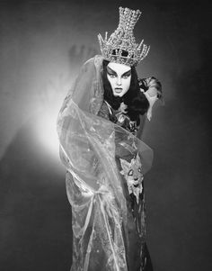Lucia Popp as the Queen of the Night in Die Zauberflöte - Photo courtesy of the Metropolitan Opera Archives.