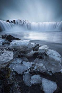 Icy Waterfalls #Waterfalls #BeautifulNature #NaturePhotography #Nature #Photography