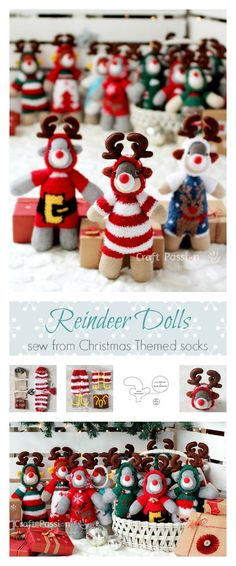 Sock Reindeer Doll - Free Pattern