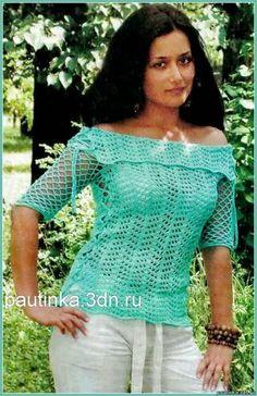 Ajurata pulover cu siret - Scheme pulover tricot - pentru sistemele de tricotat - Lecții de croșetat - Crochet, scheme de a croșetat