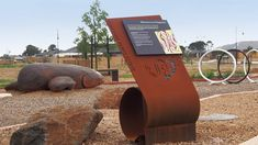 Have a look at our Curlewis Parks Estate Interpretive Signage project with four interpretive signs that feature Indigenous artwork and stories relevant to the area. Rusted Metal, Metal Structure, Great Lakes, Signage, Parks, Industrial, Landscape, Outdoor Decor, Artwork