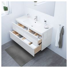 IKEA - GODMORGON / ODENSVIK Sink cabinet with 4 drawers high gloss