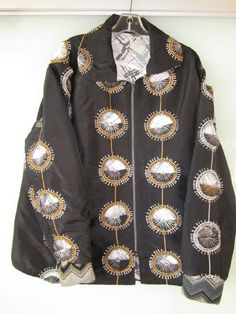 Stunning Silk/Linen Embroidered Jacket With Couture by UlricDesign, $325.00