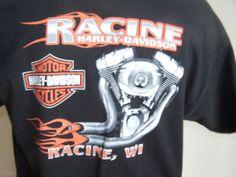 Men's Harley-Davidson T-Shirt XL Black Graphic 100 years  #HarleyDavidson #GraphicTee
