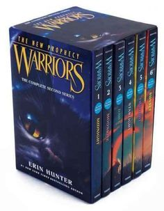 Erin Hunters #1 nationally bestselling Warriors series continues in Warriors: The New Prophecy! This box setfeaturing striking new artincludes all six books in the second Warriors series and is perfec