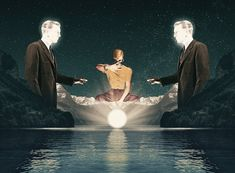 Surreal Digital Collages by Julien Pacaud Julien Pacaud is a French illustrator that plays at imagining digital collages. He reproduces surrealistic scenes inspired by retro and neofuturism. An attention is especially given to symmetry and geometric forms. A selection of his work is available in images.