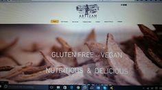 New Artizan Fine Foods logo and website home page