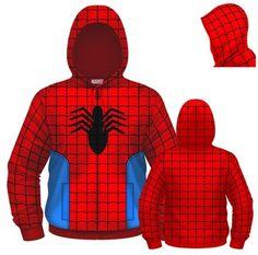 $39.99 Amazing Spider-Man Fleece Zip Up Hoodie Sweatshirt
