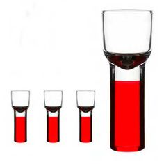 Christmas Schnapps Glass, Red, 4 pcs, Sagaform