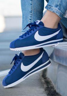 Nike Cortez Nylon: Blue/White