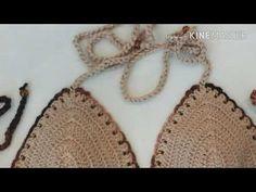 Biquíni de Crochê =colocando elástico no top pronto= - YouTube