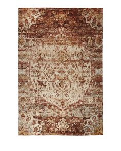 "Finnian Rug, 7'10"" x 10'10"", Red/Ivory"
