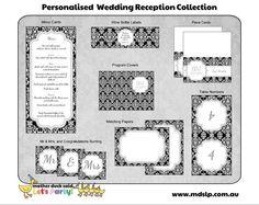 Damask Wedding Reception Collection Printables