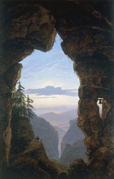 Bild:  Karl Friedrich Schinkel - Felsentor / Paint./ 1818