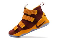 dc80a65d5e7 New LeBron James Shoes 2017 New Nike Lebron Soldier 11 XI CAVS Home Away  Burgundy Gold