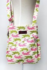 Bungalow 360 Greta Vegan Messenger Bag Purse - Gator Print