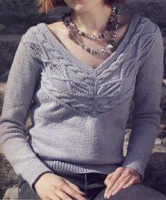 Free Knitting Patterns - Jersey with braids