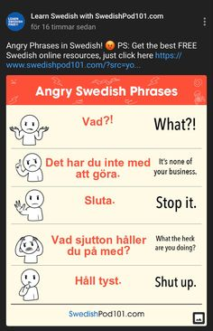 Sweden Language, Learn Swedish, Smart School, Coding Languages, Swedish Recipes, Study Notes, Learning Resources, Vacation Trips, Genealogy