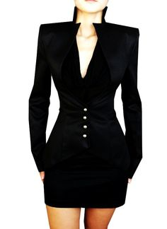 I imagine Regina from would wear this! Professional Business Suits for Women - Black Slim Business Suits for Women. Blazers For Women, Suits For Women, Jackets For Women, Women's Jackets, Women Pants, Women Blazer, Look Fashion, High Fashion, Womens Fashion