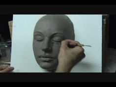 Sculpting a  female face in clay. Demo how to sculpt a face.    This is a great video which shoes how to approach sculpting a face in clay.