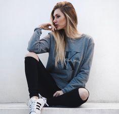 Calvin Klein grey sweatshirt