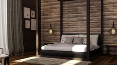 Some Balinese Style bedroom design. p/s: Generated by 3D software.