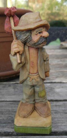 """HOBO"" Wood Carving, Artist Unk."