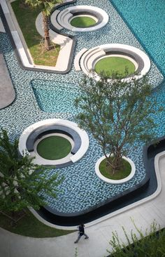 Elio Del ray,Bangkok,Thailand by Redland-scape.LTD  A part of Bangna district, the community became disconnected from the green space or green park of Bangkok city —The Elio project, was proposed to created new value for landscape design concept as a  urban islands  for community openspace. #redlandscape