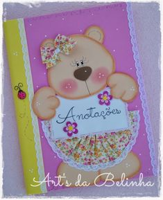 Artesantos em E.V.A by Cibelle Mello Decorate Notebook, Notebook Covers, String Art, Kids And Parenting, Diy And Crafts, Burlap, Applique, Card Making, Artsy