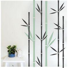 Asian Art Wall Stickers Lush Bamboo Wall Decal Bamboo Wall - Vinyl wall decals bamboo