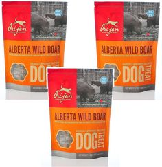 Orijen Alberta Wild Boar Singles Freeze-dried Dog Treats, 3.5-oz Bag (Pack of 3) ** You can get more details by clicking on the image. (This is an affiliate link) #Pets