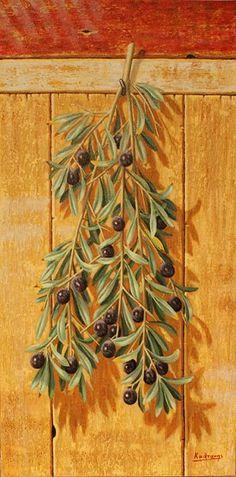 trees Tree Study, Country Paintings, Greek Art, Fruit Art, Olive Tree, Vintage Labels, Letter Art, Easy Paintings, Botanical Art