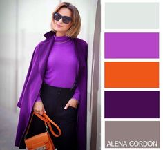 Color-Block Fashion by Alena Gordon Colour Combinations Fashion, Colour Blocking Fashion, Color Combinations For Clothes, Fashion Colours, Colorful Fashion, Color Combos, Purple Outfits, Colourful Outfits, Cool Outfits