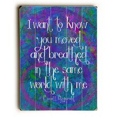 I Want To Know by Artist Lisa Weedn Wood Sign