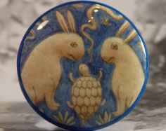"""1-1/2"""" Dresser Knobs The Turtle and The Hares"""