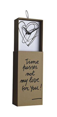 """Klokken!! Clock in a box """"Time passes not my love for you"""" by Creativando at stealtheroom.com"""