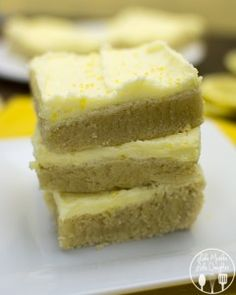 Lemon Sugar Cookie Bars - Love to be in the Kitchen
