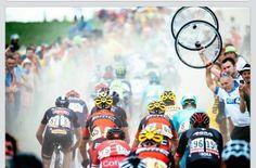La dureza del ciclismo .