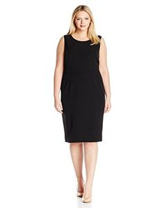 "Product review for Kasper Women's Plus Size Stretch Crepe Sheath Dress.  - Elevate your professional wardrobe with this stretch crepe, sheath dress! pair it with Kasper matching stretch crepe jacket to complete your career-ready look   	 		 			 				 					Famous Words of Inspiration...""Genius may have its limitations, but stupidity is not thus..."