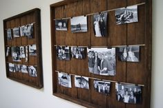 Wall art -- DIY Rustic Picture Frame (hallway = black and white pictures)  ~$25 >10 minutes -
