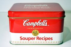 Campbell's Soup Tin Souper Recipes Metal Box by BananasDesign,