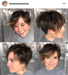Short Hairstyles With Bangs For Fine Hair - Thin Hair Cuts Wavy Pixie Haircut, Short Hair Undercut, Bob Hairstyles For Fine Hair, Hairstyles For Round Faces, Nape Undercut, Teenage Hairstyles, School Hairstyles, Pixie Bob, Style Short Hair Pixie